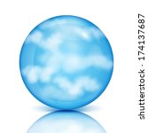 Blue Sphere With White Clouds...
