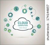 cloud computing over  gray...   Shutterstock .eps vector #174144857