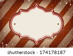 vintage vector circus inspired... | Shutterstock .eps vector #174178187