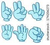 cartoon illustration of hand... | Shutterstock .eps vector #174206273