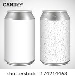 aluminum cans  realistic vector  | Shutterstock .eps vector #174214463