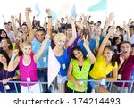 large group of people... | Shutterstock . vector #174214493