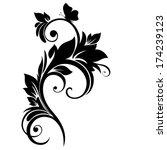 floral swirl.  | Shutterstock .eps vector #174239123