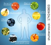collage of the most useful... | Shutterstock . vector #174240803