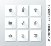 flat web icon set   vector... | Shutterstock .eps vector #174250643
