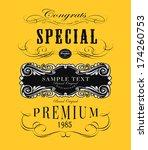 calligraphic design elements | Shutterstock .eps vector #174260753