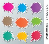 set of blank colorful paper... | Shutterstock .eps vector #174279173