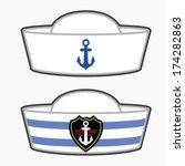 Navy Hat Clipart Sailor Hat Vector - Do...