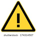 rounded triangle shape hazard... | Shutterstock . vector #174314507