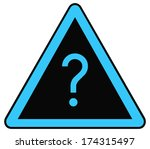 rounded triangle shape hazard... | Shutterstock . vector #174315497