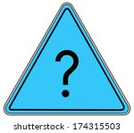 rounded triangle shape hazard... | Shutterstock . vector #174315503