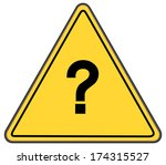 rounded triangle shape hazard... | Shutterstock . vector #174315527