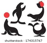 figure shows a circus seal | Shutterstock .eps vector #174315767