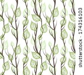 seamless pattern  branches with ... | Shutterstock .eps vector #174316103