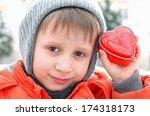 boy give a heart | Shutterstock . vector #174318173