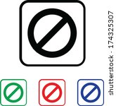 stop icon illustration with