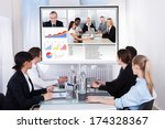 businesspeople sitting in a... | Shutterstock . vector #174328367