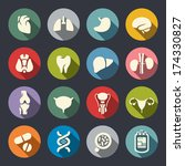 human organs icon set | Shutterstock .eps vector #174330827