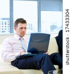 mid adult serious businessman... | Shutterstock . vector #17433304