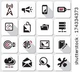seo icons. web black vector...