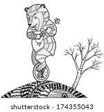 bear with balalayka | Shutterstock . vector #174355043