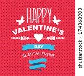 valentine's day poster... | Shutterstock .eps vector #174368903
