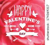 valentine's day poster... | Shutterstock .eps vector #174369317