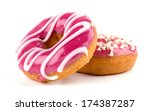 colorful donuts isolated on... | Shutterstock . vector #174387287