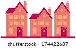 posh town houses in street... | Shutterstock .eps vector #174422687