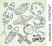 space doodle set | Shutterstock . vector #174427067