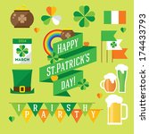 background,banner,calendar,celebration,celtic,clover,coins,day,design,details,festival,flags,flat,green,hat