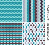 seamless pattern can be used... | Shutterstock .eps vector #174433937