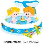 children playing in an... | Shutterstock .eps vector #174440963