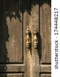 Vintage Wooden Door Closeup