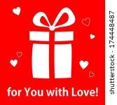 vector background   gift box ... | Shutterstock .eps vector #174448487