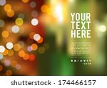 abstract bokeh background at... | Shutterstock .eps vector #174466157