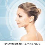 close up portrait of young ... | Shutterstock . vector #174487073