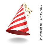 party hat. 3d illustration on... | Shutterstock . vector #174507017