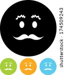 face with mustache vector icon | Shutterstock .eps vector #174509243