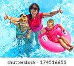 family with children in... | Shutterstock . vector #174516653