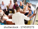 businessman making presentation ... | Shutterstock . vector #174539273