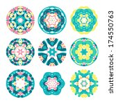 Kaleidoscope Geometric Pattern...