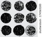 grunge shapes  | Shutterstock .eps vector #174563183