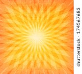 sun sunburst grunge pattern.... | Shutterstock .eps vector #174567683