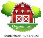 illustration of an organic farm ... | Shutterstock .eps vector #174571223