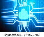 3d lcd screen matrix circuit of ... | Shutterstock . vector #174578783