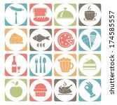 symbols with food.colorful... | Shutterstock .eps vector #174585557
