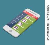 mobile app | Shutterstock .eps vector #174595007