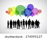 business social networking... | Shutterstock .eps vector #174595127