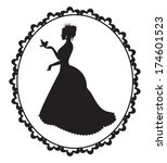 princess silhouette with a...   Shutterstock .eps vector #174601523